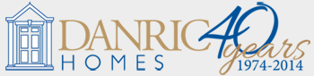 DanRic Homes 40 Years Logo