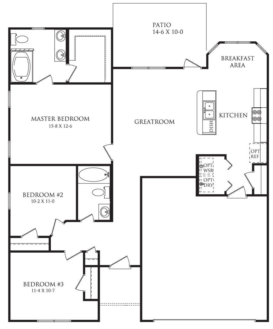 The Roberts Floor Plan Cottages At Fieldstone Danric Homes